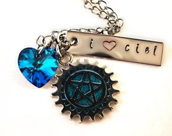Inspired I Love Ciel Necklace