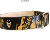 BATMAN Dog collar / 1 inch / Handmade leather dog collar / cool dogs