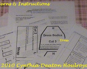 """PART #2 Option A - PATTERNS For Formal Dress / Purse - CDH """"Three Blind Mice..."""" With Sewing Instructions"""
