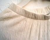 Vintage Ivory Textured Pants.