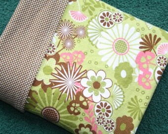 SALE - Baby Girl Blanket, Baby Receiving Blanket, Flowers Baby Girl Blanket, Flannel Blanket, Pink Flowers Blanket, Baby Shower Gift