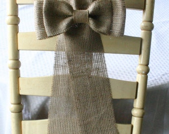 Bride And Groom Chair Bows Mr And Mrs Burlap Pew By