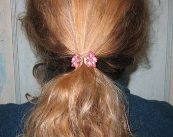 Vintage Floral Barrette Hair Accessory Pony Tail Holder