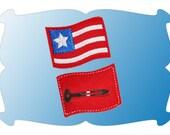 American Flag Hair clip  --  One hair clip