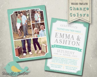 Wedding Announcement Templates and Save the Date - Wedding Announcement 15
