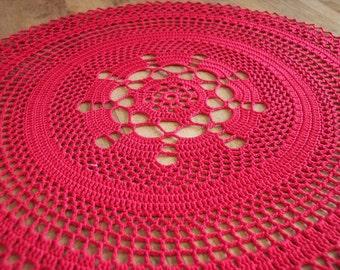 Doily |Table Linen |Red Centerpiece / Home Decor / Placemat / Wedding Centerpiece / Red  / Victorian / Doilies