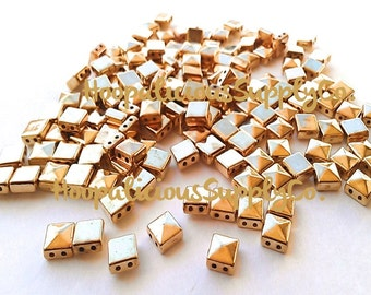50pc 6mm Square Pyramid Spike Studs. Silver,Gold,Brass,or Gun Metal.Sew Glue or String.FAST Shipping from USA w/ Tracking 4 Domestic Orders.
