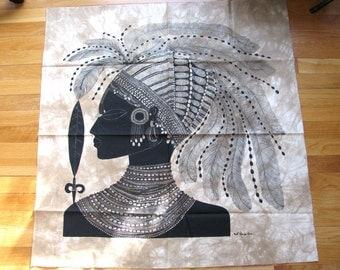 Vintage ethnic print fabric