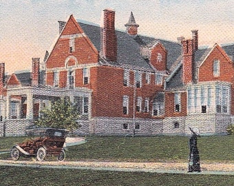 Ca. 1920's City Hospital in Bradford, PA Topographical Postcard - 358