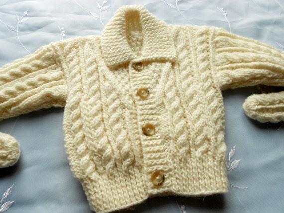 Baby Boy Aran Sweater Set in