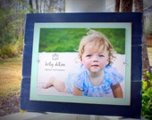 Distressed Frames, Navy Blue Picture Frame, 11x14 Frame, Rustic Beachy Frames