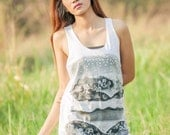 Hamburger Tank Top - women t-shirt tank top Tunic Unisex Shirt Vest Women Sleeveless Singlet white T-Shirt Size M L