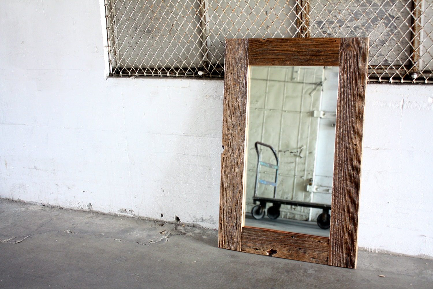 Reclaimed Wood Mirror Rustic Barn Wood