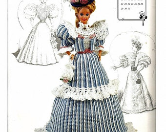 The Gibson Girl Collection of the Gay Nineties May Fashion Doll  Crochet Pattern  Annies Calendar Bed Doll Society 7705