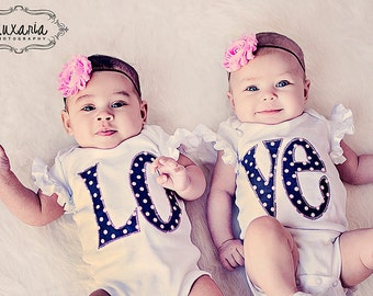 Twin Outfits / Sister Outfits / Twin Girl Bodysuits / Sibling Matching Outfit / Sister Outfits For Pictures / Best Friend Shirts/Coming Home