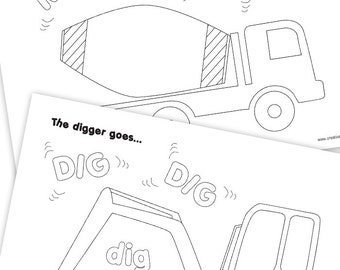 Construction Vehicle Colouring Pages
