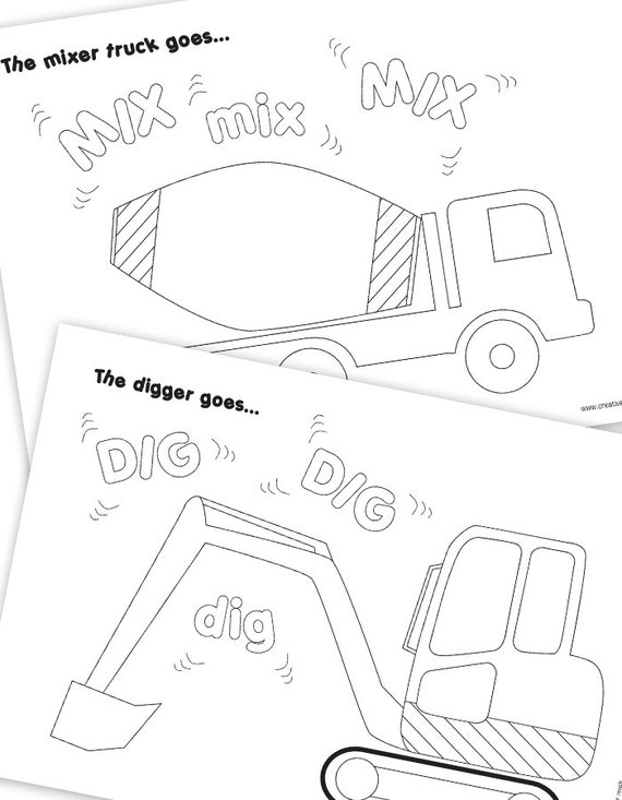 Construction Vehicle Colouring Pages Construction Party