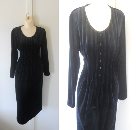 Long Gothic Dress Black Gothic Dress Long Black Velvet Dress Black Long Dress 90s Goth Dress Women Winter Dress Dressy Dress Size 14 Dress