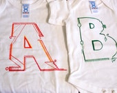 CUSTOM Letter / Initials Onesie for Baby Boy or Girl, unique baby clothes