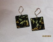 Dichroic Glass Dragonfly Earrings - Item 1-1610