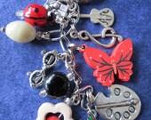 Music & Art Teacher's Beaded keychain, purse charm.