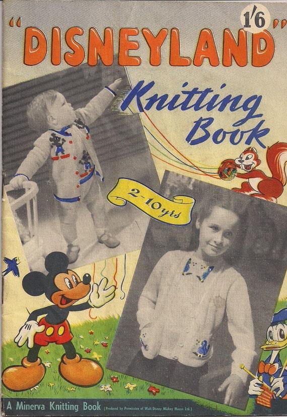 Vintage Knitting Books : Vintage minerva knitting pattern book disneyland