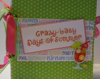 Days of Summer paper bag album great for Friends to celebrate a get together or girls night out