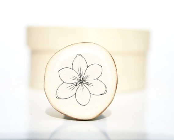 Flower Cocktail Ring spring jewelry cocktail ring  best friend gift wood ring eco friendly