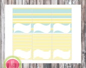 KITE Blank Tented Cards - Kite Party Printables  - Place Cards - Instant Download - Party Printables by WC Designs