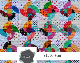 State Fair Quilt Pattern by Jen Kingwell Designs