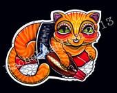 Sushi Cat A4 Print