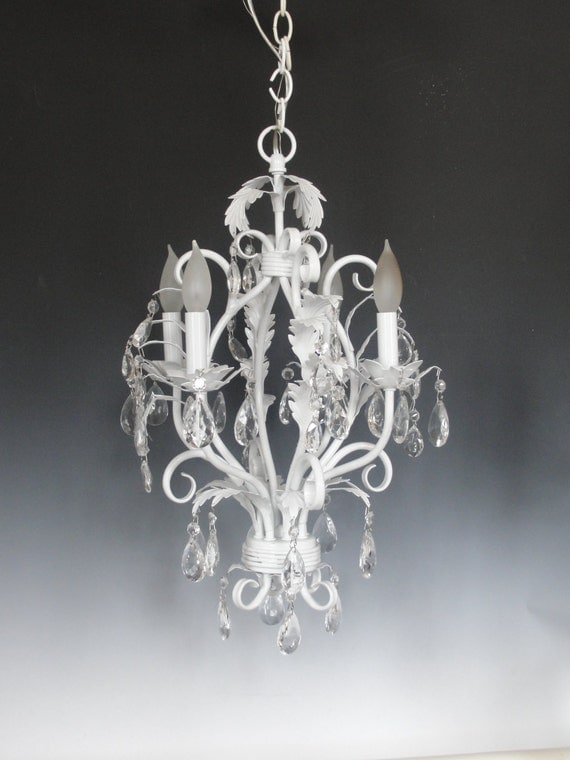 Lighting Chandelier White Chandelier Lighting Shabby Chic