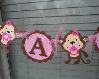 Monkey ITS A GIRL banner