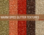 90% OFF SALE Glitter Digital Paper Glitter Textures Printable Paper Pack Warm Spice