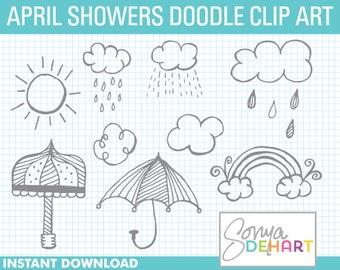 80% OFF Sale Doodle Clipart, Weather Clipart, Doodle Clip Art, Weather Clip Art, Clipart Weather, Clipart Weather, Weather Doodles