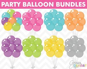60% OFF SALE Balloon Clipart, Balloon Clip Art, Birthday Clipart, Birthday Clip Art, Vector Birthday, Digital Balloons, Digital Birthday