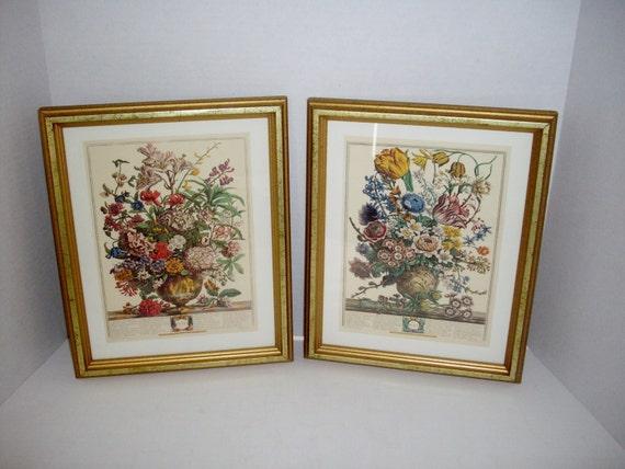 Vintage Botanical Prints Set Of 2 English Framed Botanicals 9