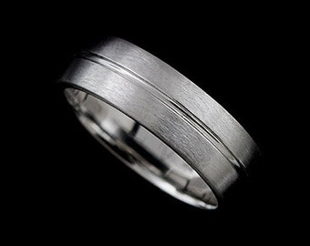 Satin Finish Wedding Ring, Men's Wedding Ring Band, Matte Finish Wedding Band, Eternity Classic Men's Ring, Simply 6mm Wide Men's Ring Band