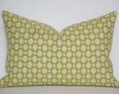 Schumacher -  Celerie Kemble Betwixt  - Chartreuse  - 12 x 16 - Decorative Pillow Cover - Throw Pillow - Accent Pillow