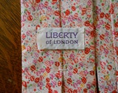 Liberty of London vintage original cotton print tie - sweet spring/Easter print