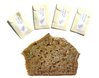 Banana Nut Bread Scented Sachets For Drawers , Housewarming Gift Idea, Pastel Yellow Beige Modern Rustic Home Decor