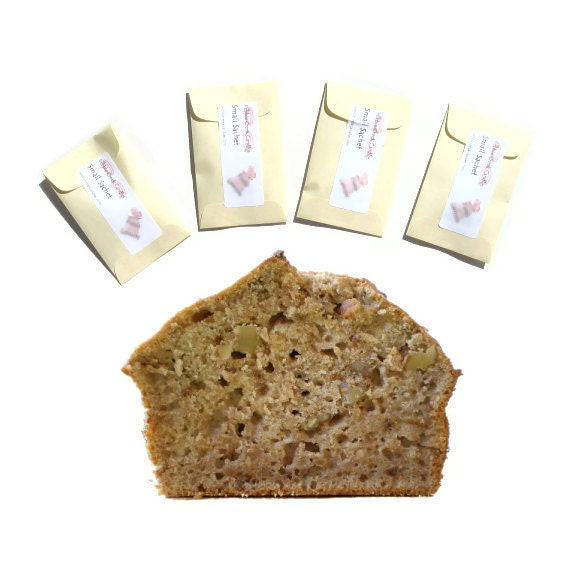 Seed Packets Favors Sachets Scented Banana Nut Bread Yellow or Pick Color Personalized Rustic Home Decor Baby Shower Bun in Oven
