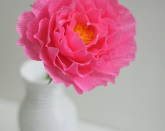 Large paper peony for bridal bouquet and bridesmaid bouquet.