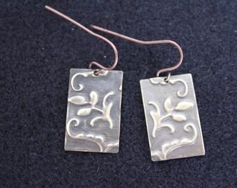 Vintaj Antique Copper Plate Earrings