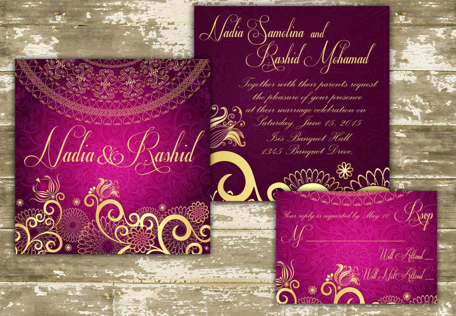 Customizable indian wedding invitations for Online indian e wedding invitations