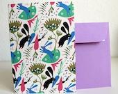 Rabbits Card ( cream version ) / Carte Lapins ( version crème )
