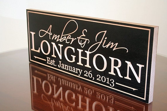 Anniversary Custom Wood Sign Wedding Established Sign Name Sign Wedding Signage Family Name Sign In Wood Personalized Sign Maple LH