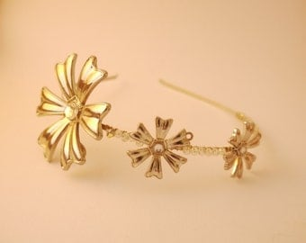 Art Deco Style Bridal Flower Hair band Tiara