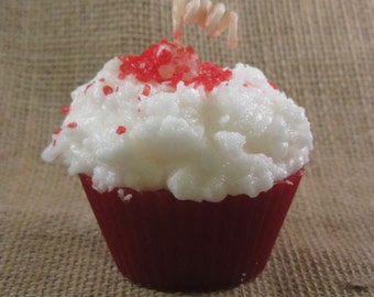 Red Velvet Cupcake Candle