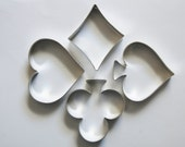 Diamond, Heart, Club and Spade Cookie Cutters
